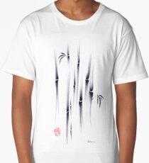 Dreamland - sumie ink brush zen bamboo painting by Rebecca Rees Long T-Shirt