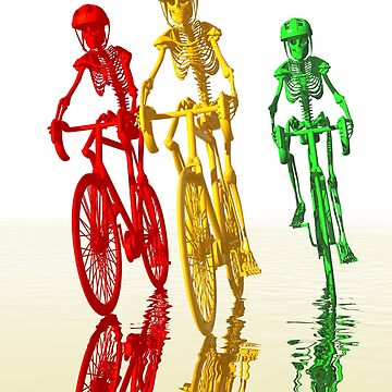 Skeletons on Bikes by fotokatt