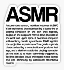 ASMR (Autonomous Sensory Meridian Response) Sticker