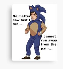 no matter how fast i run... Canvas Print