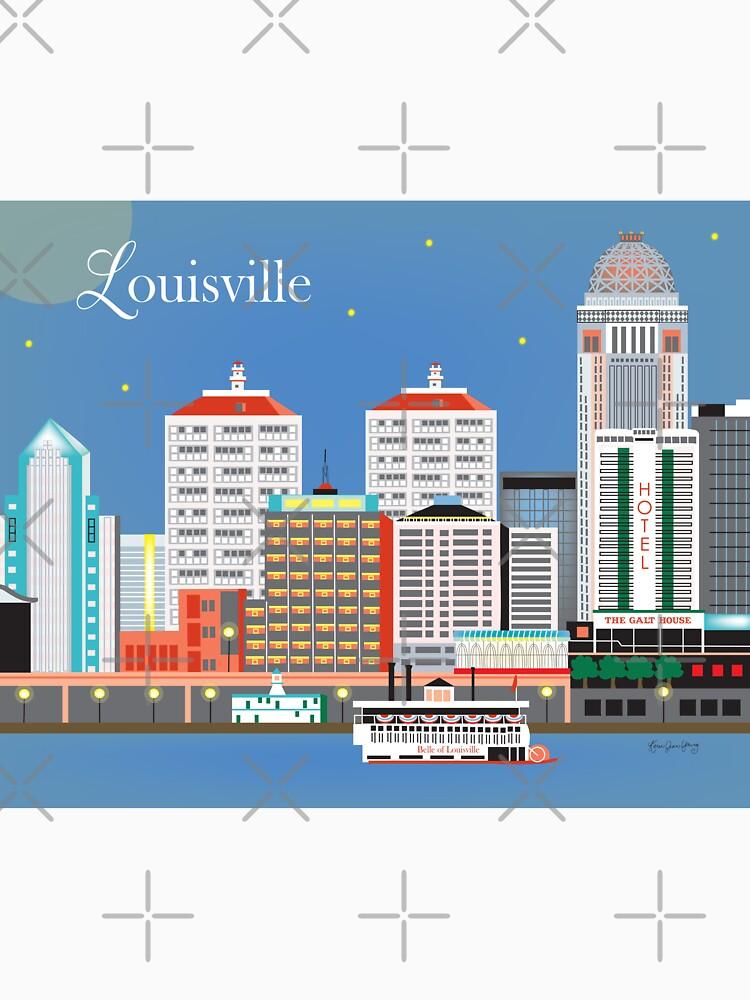 Louisville, Kentucky - Skyline-Illustration durch lose Blumenblätter von LoosePetals