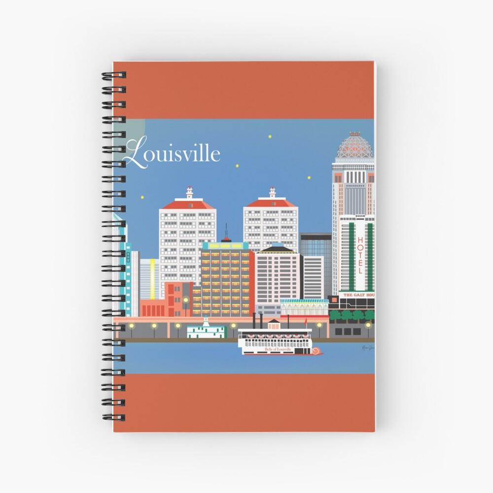 Louisville, Kentucky - Skyline-Illustration durch lose Blumenblätter Spiralblock