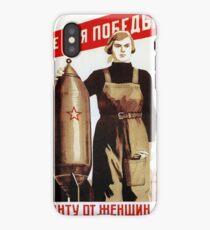 USSR CCCP Cold War Soviet Union Propaganda Posters iPhone Case/Skin