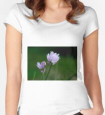 Chive Blossoms Women's Fitted Scoop T-Shirt