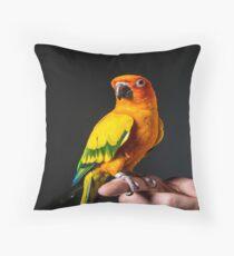 Maverick The Parrot Throw Pillow