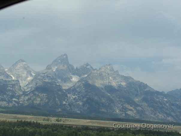 Grand Teton Mountains in Wyoming by Courtney Oogenover