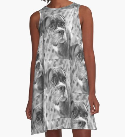 Es ist nicht fair - Boxer Dogs Series A-Linien Kleid