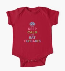 Keep Calm and Eat Cupcakes     One Piece - Short Sleeve