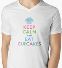 Keep Calm and Eat Cupcakes     Men's V-Neck T-Shirt