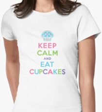 Keep Calm and Eat Cupcakes     Womens Fitted T-Shirt