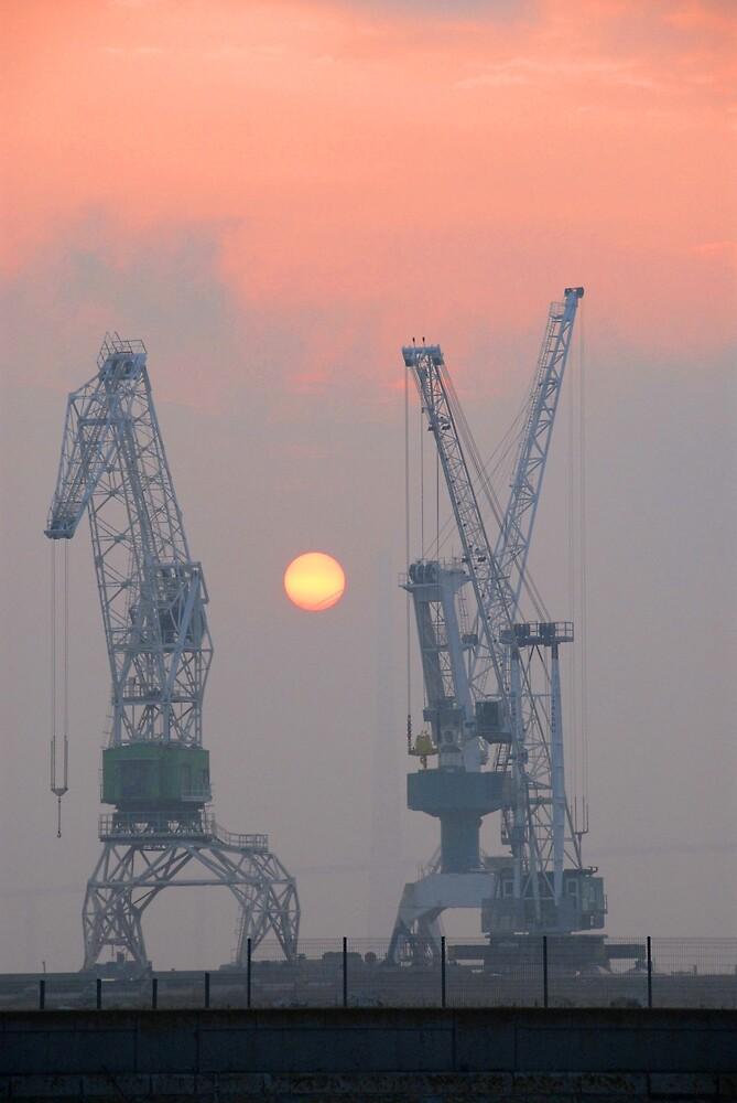 Sunrise at Honfleur, France by jensNP