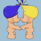 Troll love - yellow & blue by JollyJungle
