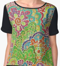 Abstract Floral Art Chiffon Top