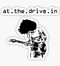 At the Drive-in • Black Sticker