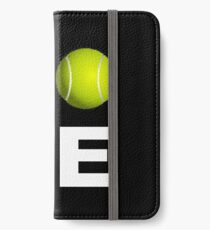 Liebes-Tennis-Trainings-Entwurf iPhone Flip-Case/Hülle/Klebefolie