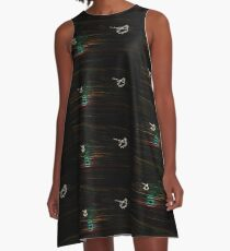Psychedelic Apaches Into the Sunset A-Line Dress