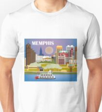 Memphis, Tennessee - Skyline Illustration by Loose Petals Unisex T-Shirt