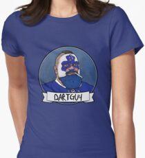 DartGuy DartMan Leafs Fan Hockey T-shirt Love Dart Guy Womens Fitted T-Shirt