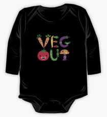 Veg Out - maize Long Sleeve Baby One-Piece