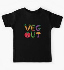 Veg Out - maize Kids Tee