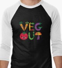 Veg Out - maize Men's Baseball ¾ T-Shirt