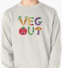 Veg Out - maize Pullover Sweatshirt