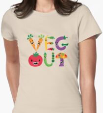 Veg Out - maize Womens Fitted T-Shirt