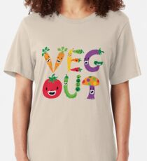 Veg Out - maize Slim Fit T-Shirt