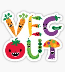 Veg Out - maize Sticker
