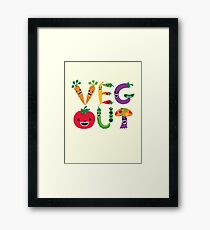 Veg Out - maize Framed Print