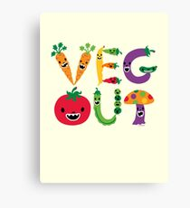 Veg Out - maize Canvas Print
