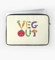 Veg Out - maize Laptop Sleeve
