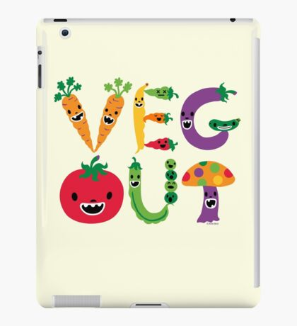 Veg Out - maize iPad Case/Skin