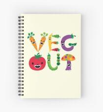 Veg Out - maize Spiral Notebook