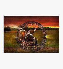 Steampunk - The gentleman's monowheel Photographic Print