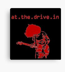 At the Drive-in • Red Canvas Print