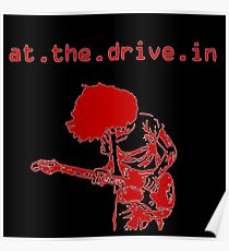 At the Drive-in • Red Poster