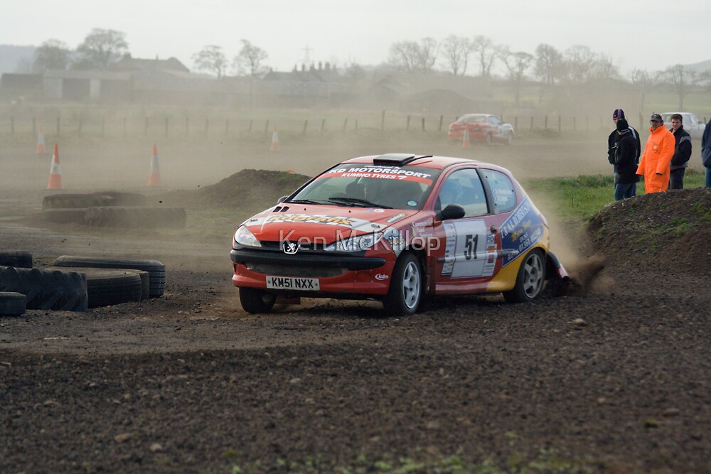rallying at Charterhall by Ken McKillop