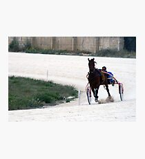 Horse racing Photographic Print