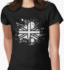 Grunge Union Jack Women's Fitted T-Shirt