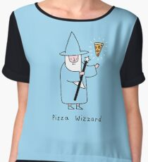 Pizza Wizzard Women's Chiffon Top