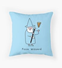 Pizza Wizzard Throw Pillow