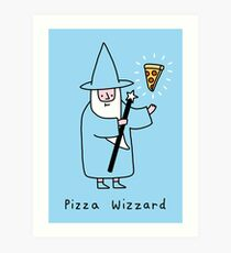 Pizza Wizzard Art Print