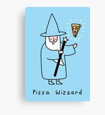 Pizza Wizzard Canvas Print