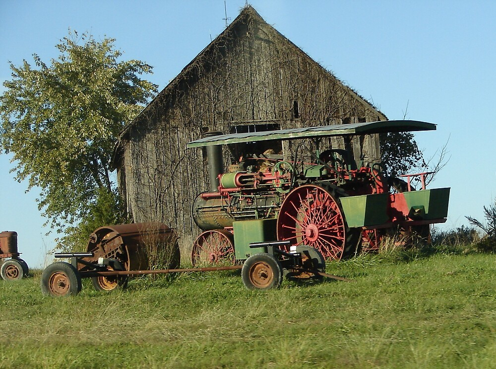 Barn and Tractor by inventor
