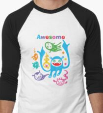 Stay Awesome - light  Men's Baseball ¾ T-Shirt