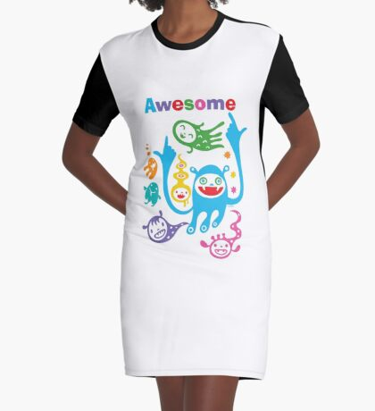Stay Awesome - light  Graphic T-Shirt Dress