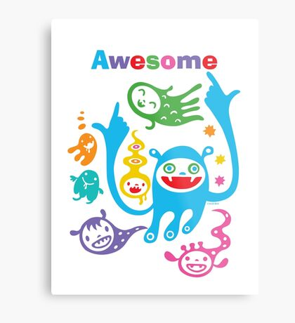 Stay Awesome - light  Metal Print
