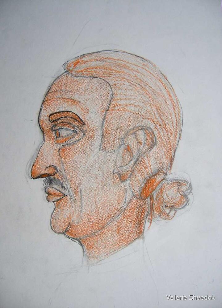 My art teacher's portrait by Valerie Shvedok