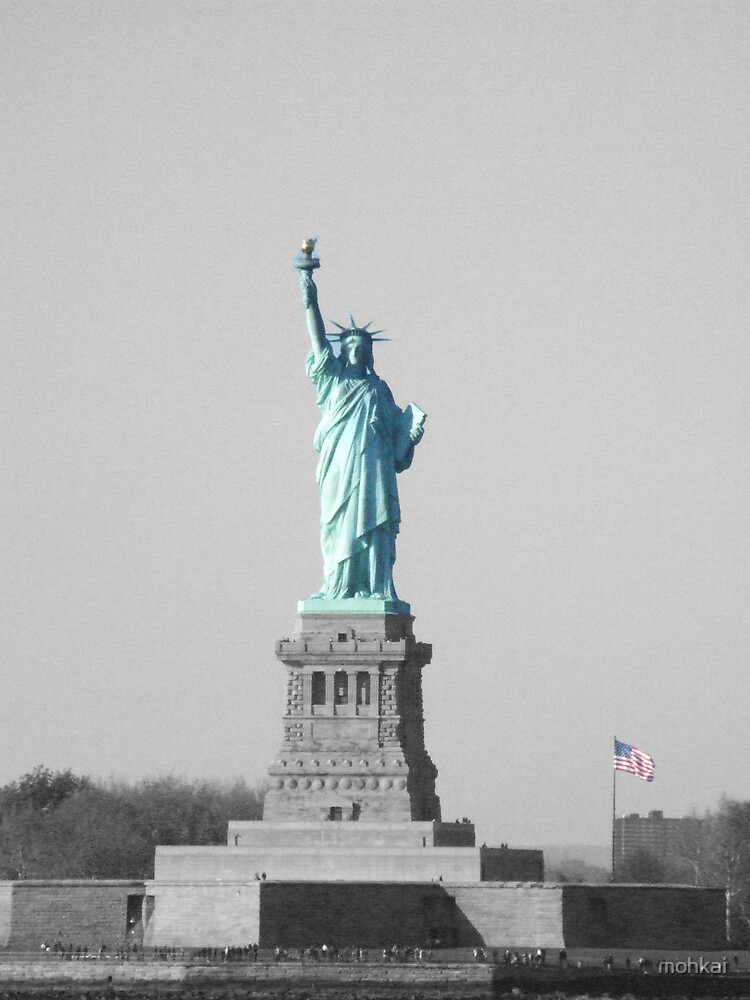 statue of liberty popart by mohkai